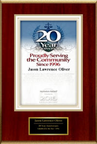 20th Anniversary Jason L Oliver Law Office