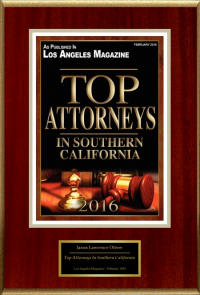 2016 Top Attorney Award Los Angeles Jason Oliver